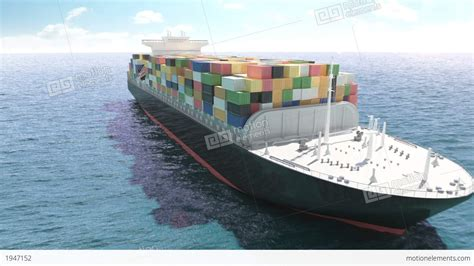 Ship Animation by Cargo Container Ship In A Sea Stock Animation 1947152