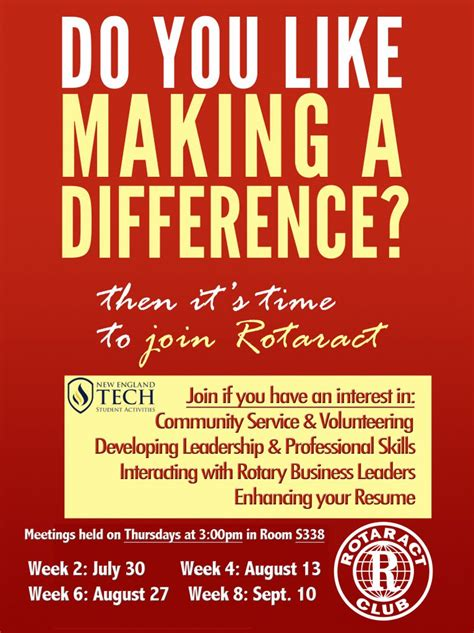 difference join  rotaract club  england