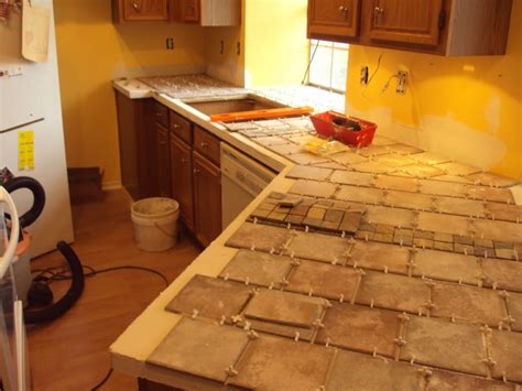 diy tile kitchen countertops tile laminate countertop home design ideas 6894