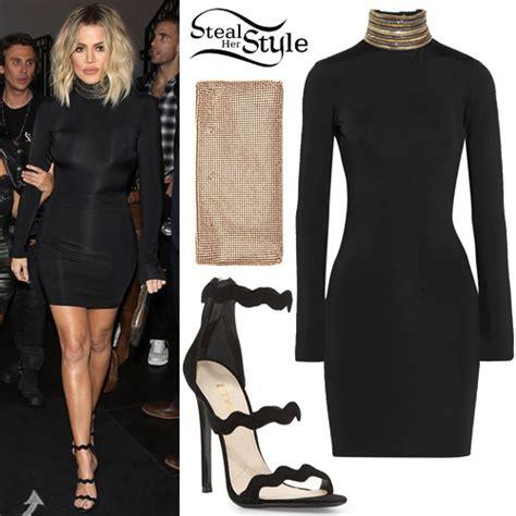 Khloe Kardashian: Embellished Dress, Black Sandals | Steal ...