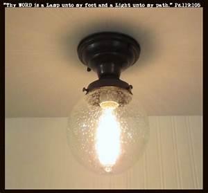 Seeded glass ceiling light semi flush mount the lamp goods