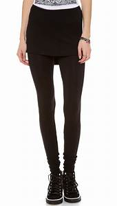 Riller u0026 Fount Max Leggings With Attached Skirt - Stud French Terry in Black | Lyst