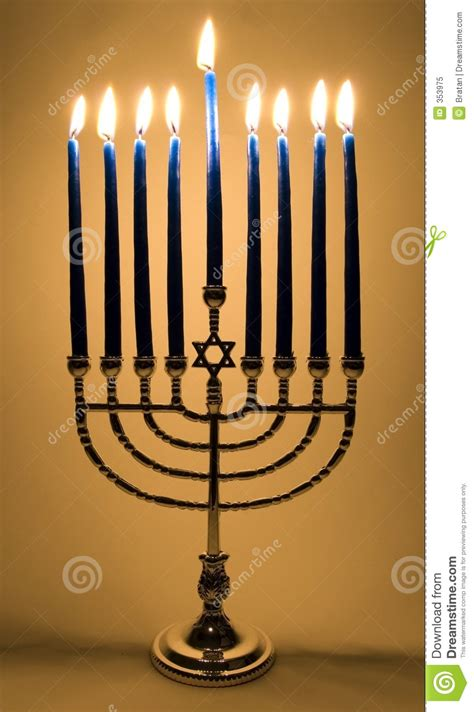 lighted menorah stock image image of occasion silver