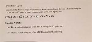 Construct The Boolean Logic Below Using Nand Gates