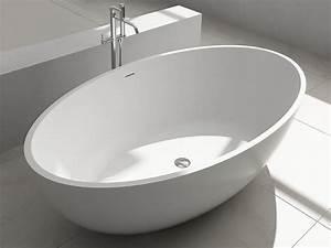 Freistehende Design Badewanne Aus Mineralguss Bloomberg