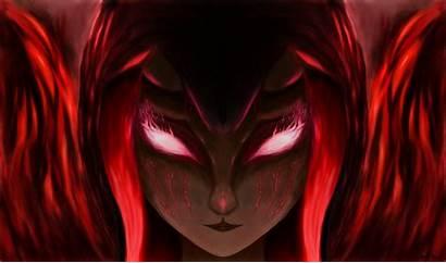 Demon Hair Horns Fantasy Woman Oni Wallpapers