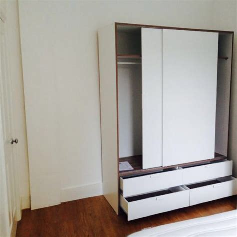 ikea trysil wardrobe home furniture  carousell
