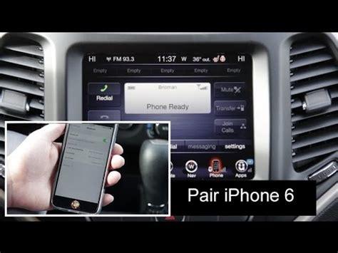 dodge chrysler jeep ram phone pair bluetooth setup