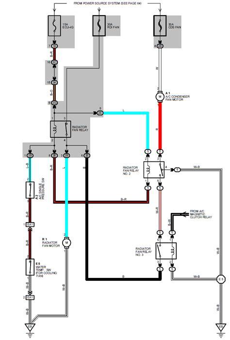 wiring diagram toyota camry radiator fan  condenser