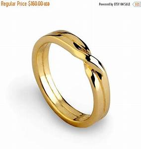holidays sale love knot ring gold wedding band unique With love knot wedding ring