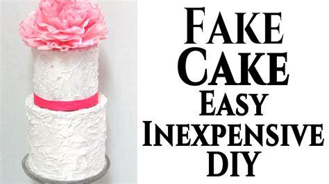 diy fake wedding cake tutorial youtube