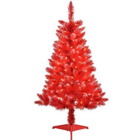 walnart 4 ft pre lit rose tinsel christmas tree 4 pre lit blue tinsel artificial tree clear lights walmart