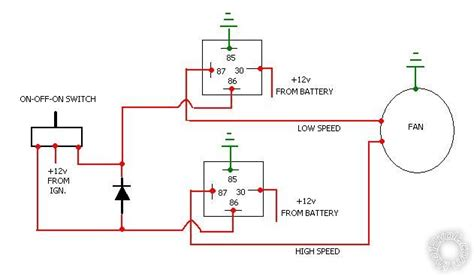 Automotive Cooling Fan Wiring Diagram by 2 Speed Engine Cooling Fan Wiring