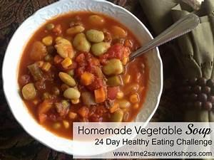 Homemade Vegetable Soup Recipe - Kasey Trenum