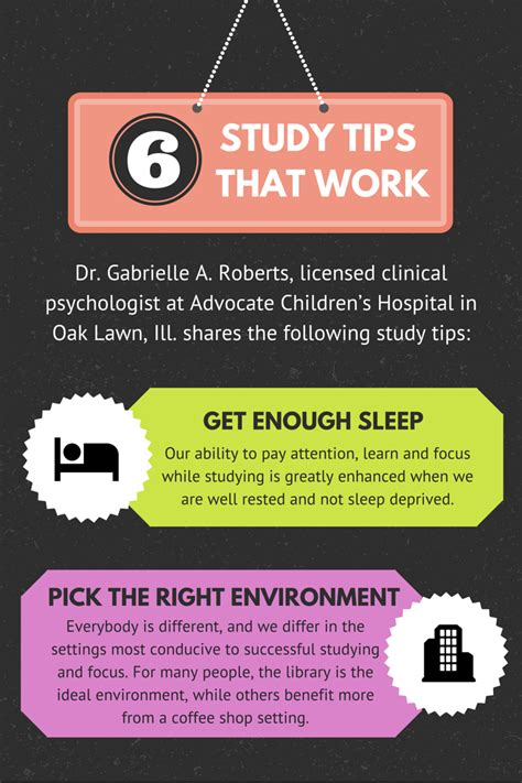 Infographic 6 Study Tips That Actually Work