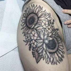 Sunflower Tattoo Meaning and Designs (2018)