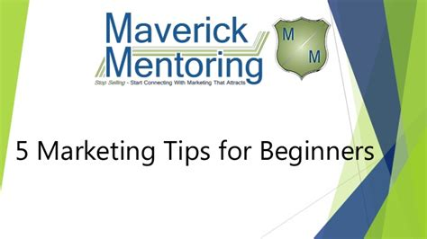Marketing For Beginners by 5 Marketing Tips For Beginners