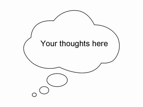 thought bubble powerpoint template thought and speech bubbles clip art