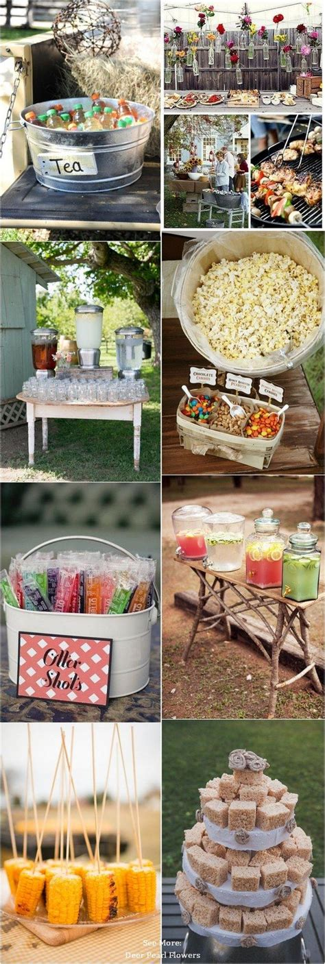 outdoor wedding foods ideas  pinterest