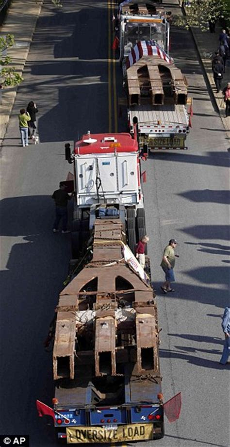 world trade center steel girders  returned  town