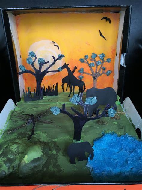 st grade favorite book shoe box project african savanna