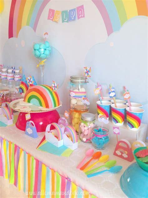 deco anniversaire licorne la sweet table d 233 co d anniversaire quot arc en ciel quot les