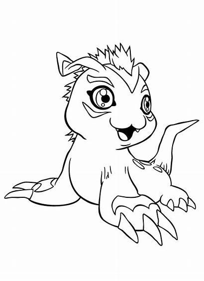 Digimon Coloring Colorear Dibujos Imprimir Ausmalbilder Gomamon