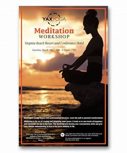 Posters Ads Meditation Poster Yoga Yax Concepts