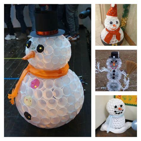 wonderful diy fun snowman  plastic cups
