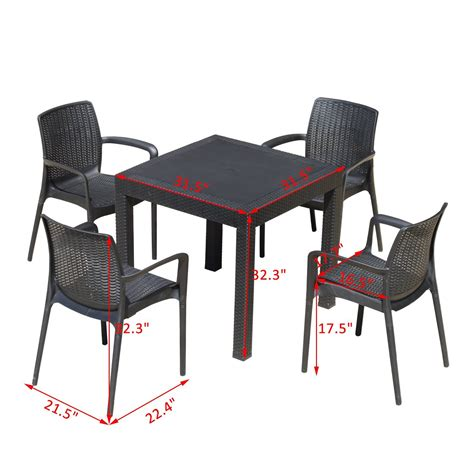 Outdoor Table And Chairs For Sale by Outsunny 5pc All Weather Resin Patio Dining Set Garden