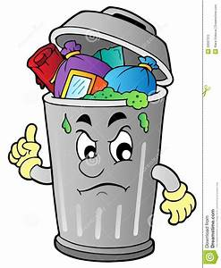 Angry Cartoon Trash Can Royalty Free Stock Photo - Image ...