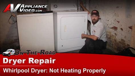 whirlpool gas dryer repair   heat properly