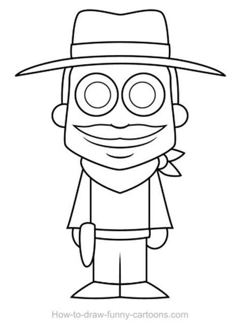 cowboy drawings sketching vector