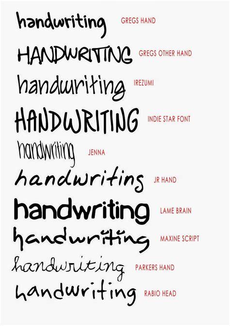 handwriting font hand writing