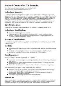 cv for student student counsellor cv sle myperfectcv
