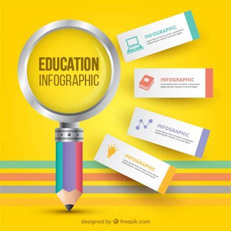 education infographic vectors   psd files