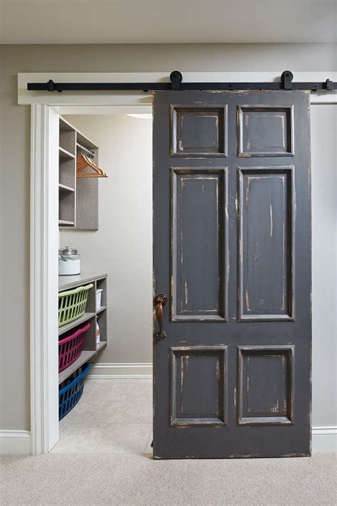 distressed barn door classic family home with paint colors home bunch