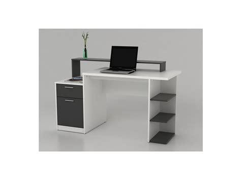 bureau unique bureau zacharie 1 tiroir 1 porte 2 coloris