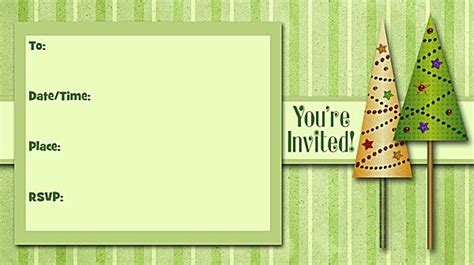 christmas party  printable fill  invitations