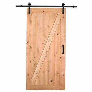 Barn doors interior closet doors the home depot for 28 inch barn door