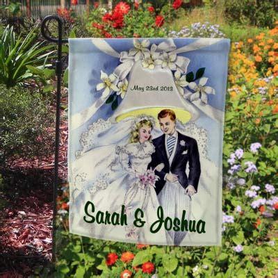 personalized vintage wedding garden marker flag custom