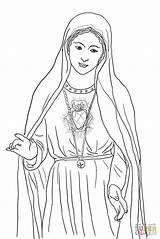 Coloring Mary Heart Immaculate Catholic Printable Crafts Lady Guadalupe Colorare Maria Church Jesus Fatima Maryi Kolorowanka Kolorowanki Mother Serce Niepokalane sketch template