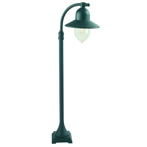 elstead lighting como outdoor l post in black finish