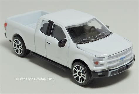 two desktop majorette 2015 ford f 150 and welly