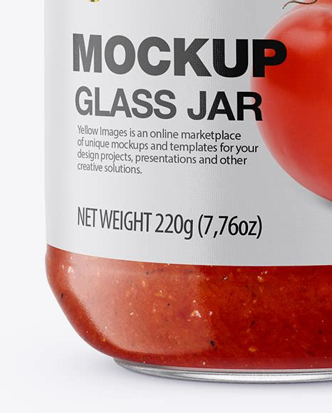 Showcase your mustard, fruit jam, sauce packaging labeling designs in a photorealistic style. Clear Glass Jar With Sweet Chili Sauce Mockup - Glass Jar ...