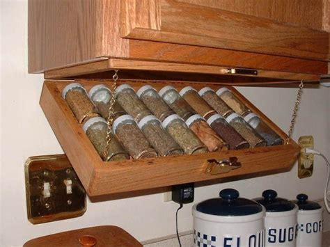 Creative Kitchen Storage Ideaunder Cabinet Spice Rack
