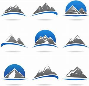 Stylish Mountains Logo vector | AI format free vector ...