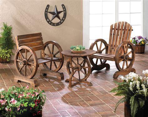 adirondack wagon wheel loveseat bench chair outdoor