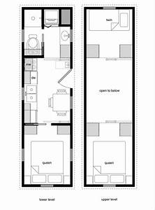 Tiny house floor plans with lower level beds tiny house for Pictures of floor plans to houses