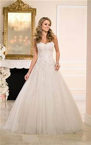 Ball Gown Sweetheart Champagne Tulle Lace Beaded Wedding ...